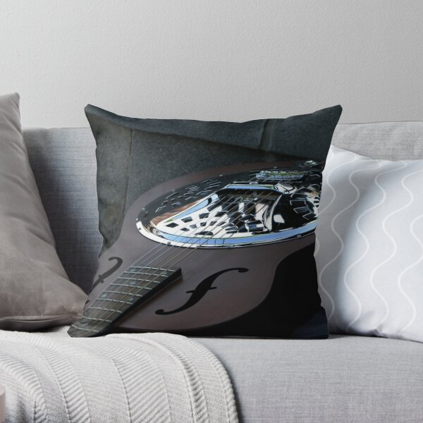 Steel Strings Throw Pillow