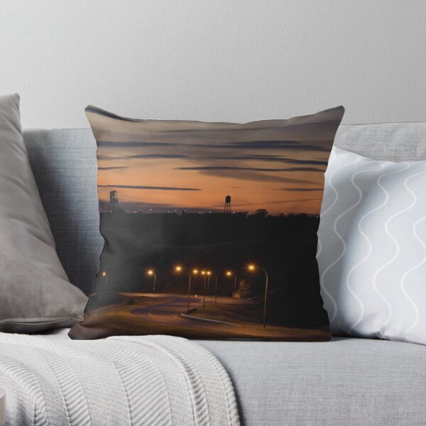 Coulees Throw Pillow