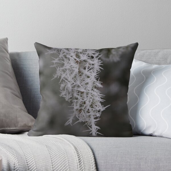 Icy Needles/Threads of Fog Throw Pillow