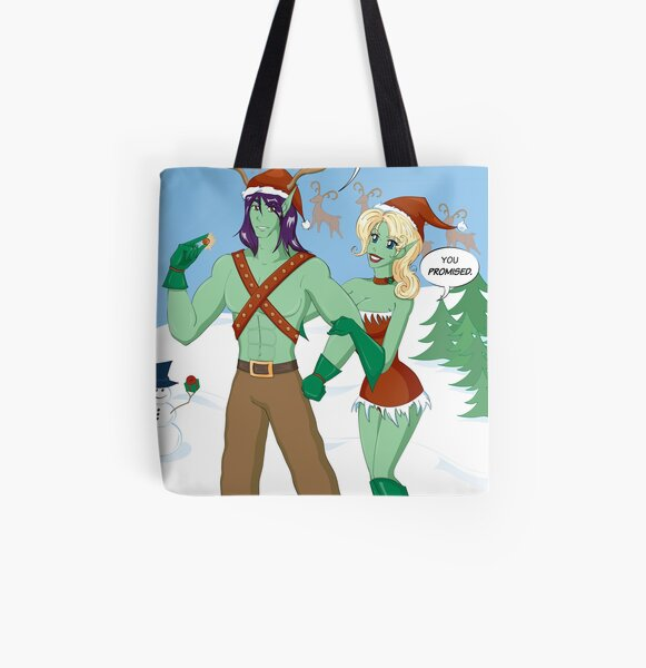 Winter Holiday All Over Print Tote Bag