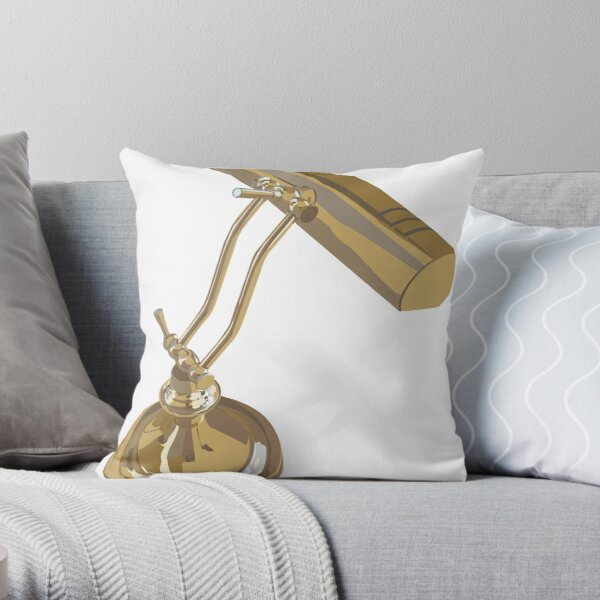 Desk Lamp Throw Pillow