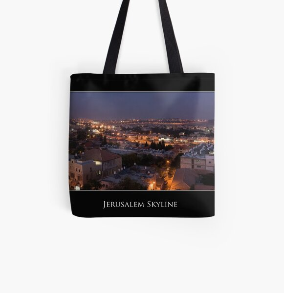 Jerusalem Skyline All Over Print Tote Bag