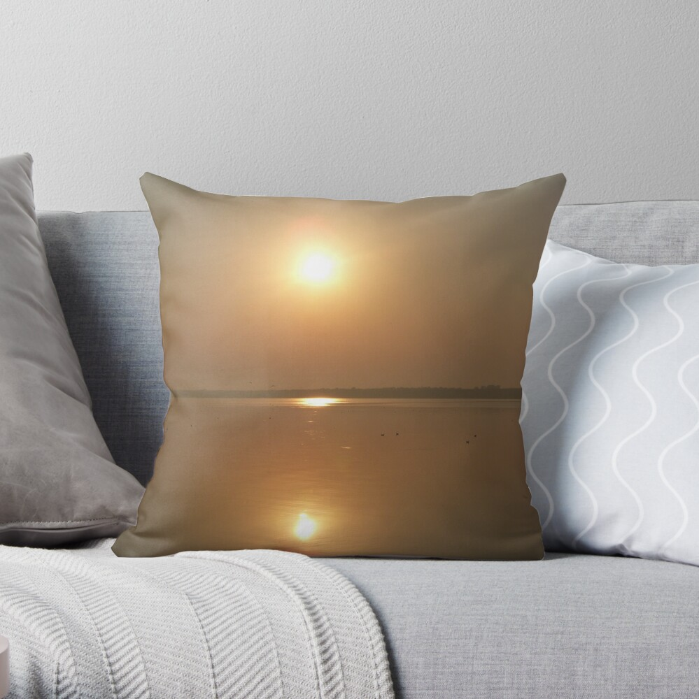 The Sun and The Sea Throw Pillow