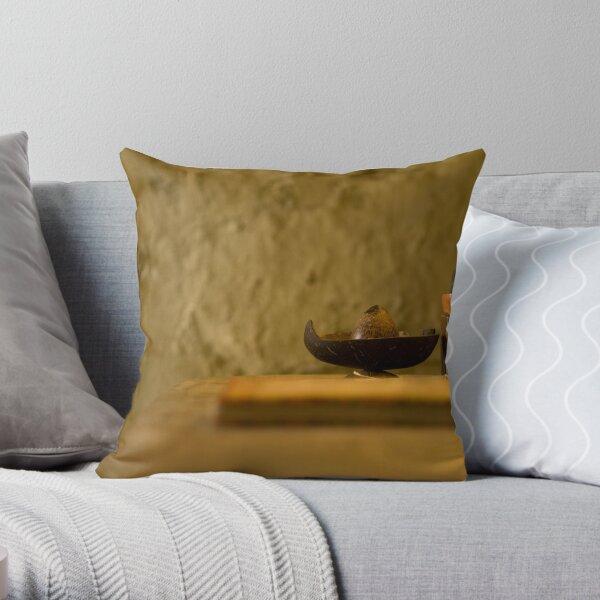 Good book, good Buddha Throw Pillow