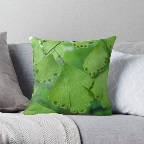 Maidenhair Macro Throw Pillow