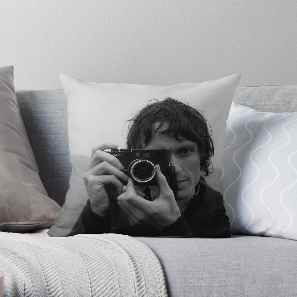 Andrew as Photographer Throw Pillow