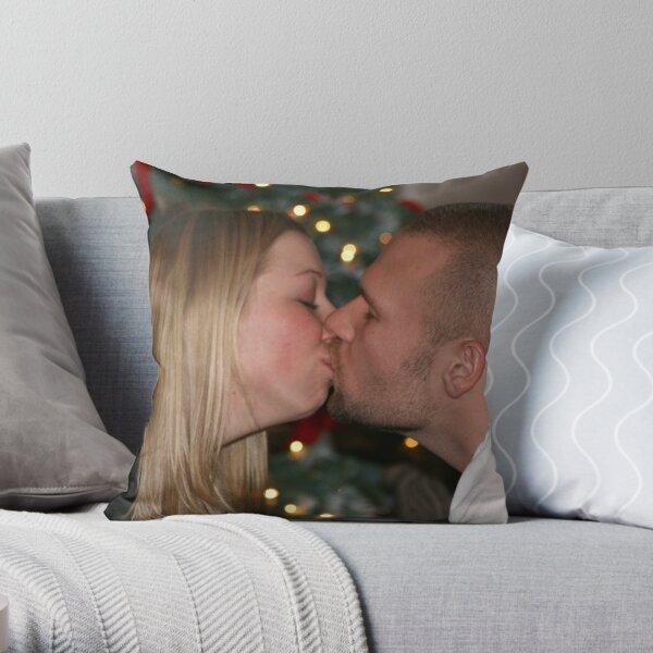 Christmas Kiss Throw Pillow