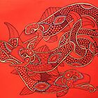 Three Wily Salmon by Lynnette Shelley