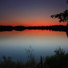 Jones Lake at Dusk by Megan Noble