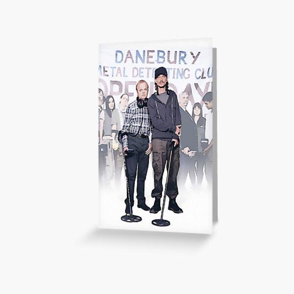 Detectorists, British Tv series, comedy, digital artwork, gift, present, ideas Greeting Card