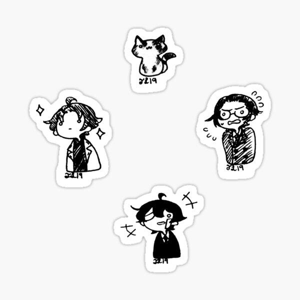 Buraiha Trio Chibi Stickers Sticker