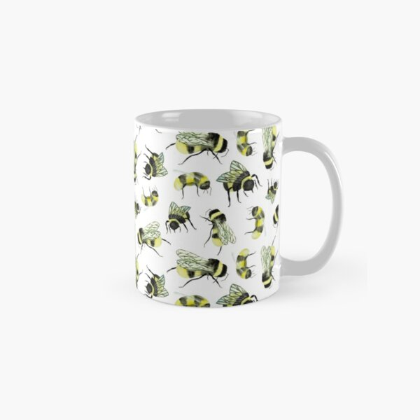 Bumble bees - Hand drawn and painted with watercolours Classic Mug