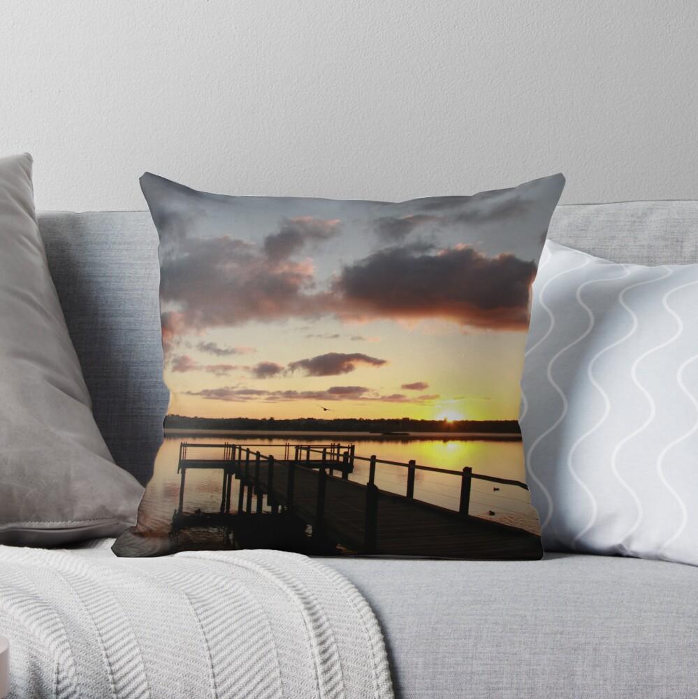 Sunrise over Lake Joondalup Throw Pillow
