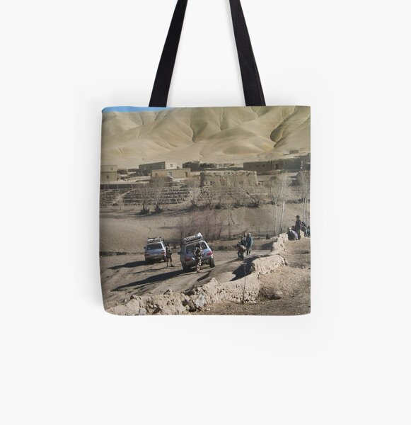 child and soldiers All Over Print Tote Bag