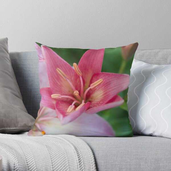 Flower Calendar 12 Throw Pillow