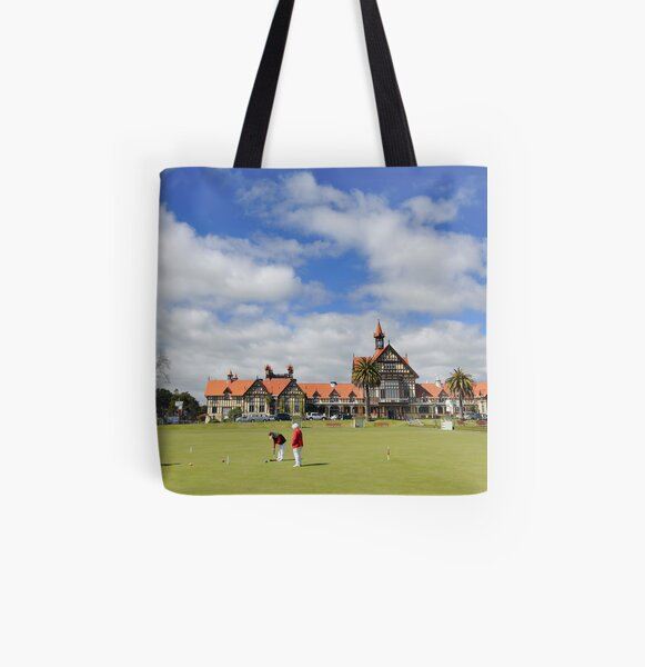 A day on the green. All Over Print Tote Bag