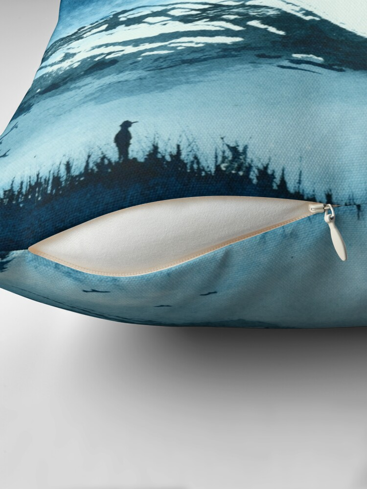 Alternate view of Blue Valley Throw Pillow