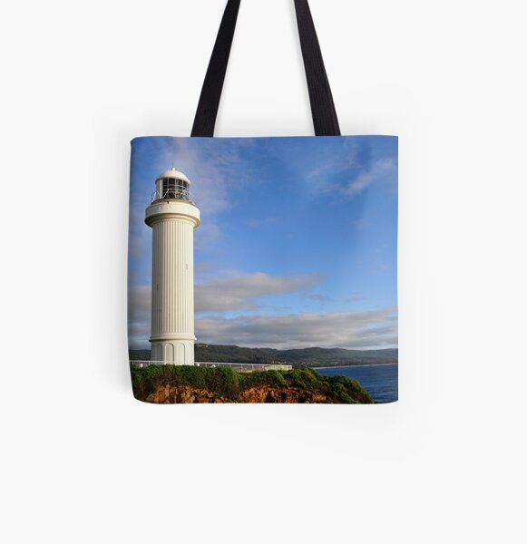 Wollongong Lighthouse early morning All Over Print Tote Bag