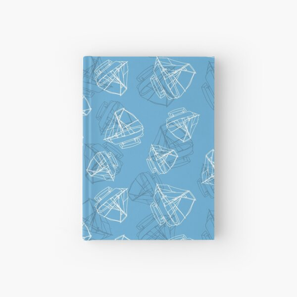 Boats - hand drawn line art style Hardcover Journal
