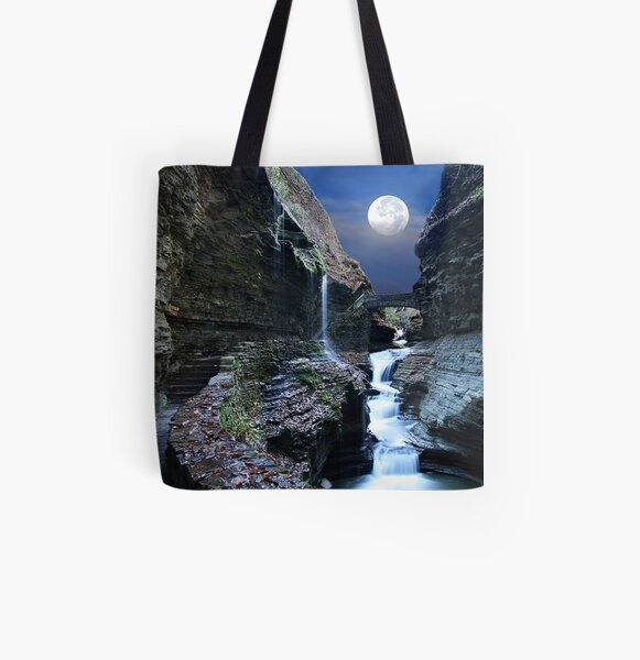 Rainbow Waterfalls All Over Print Tote Bag