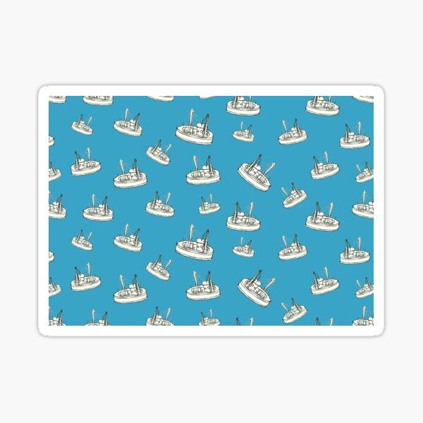 Boats - hand drawn illustration style Sticker