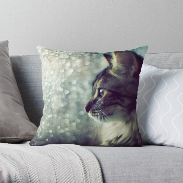 Staring Into the Open World Throw Pillow