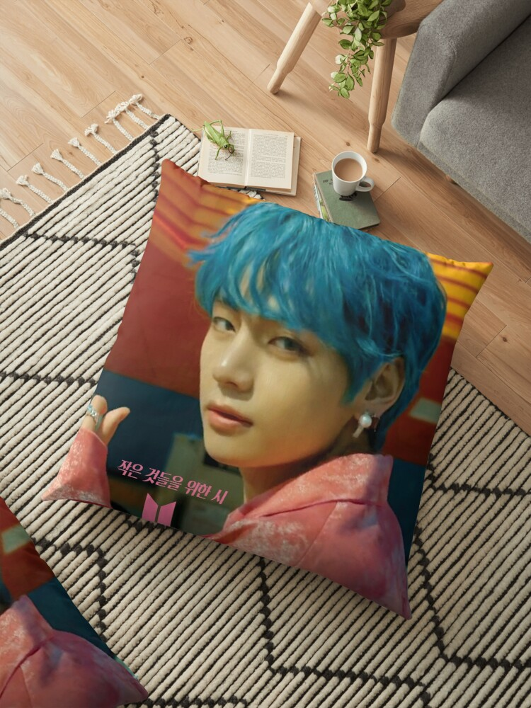 Bts V Boy With Luv Floor Pillow By Nurfzr Redbubble