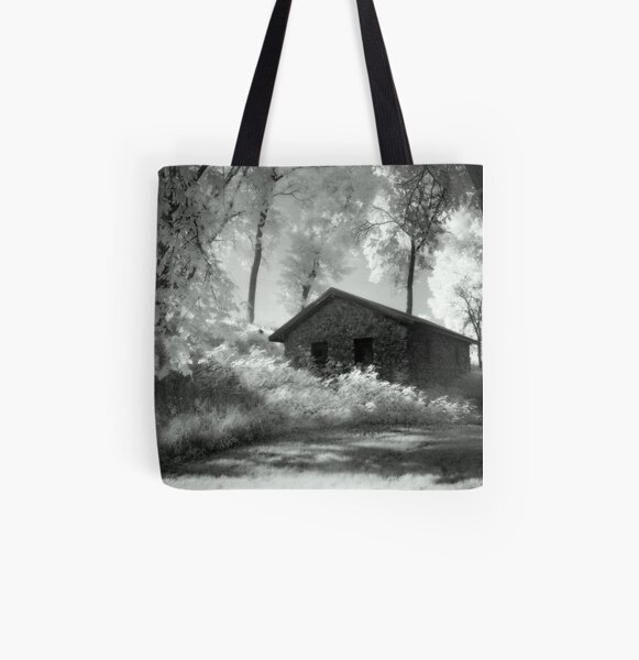 Moss and an Old Manse All Over Print Tote Bag
