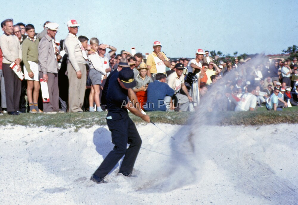 Golfing Legends: Gary Player - Australian Open Golf, The Lakes, Sydney, 1964  by Adrian Paul