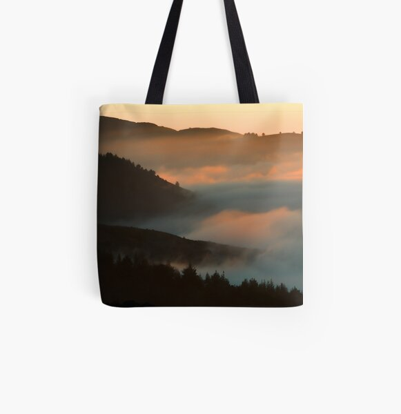 When The Fog Rolls In All Over Print Tote Bag