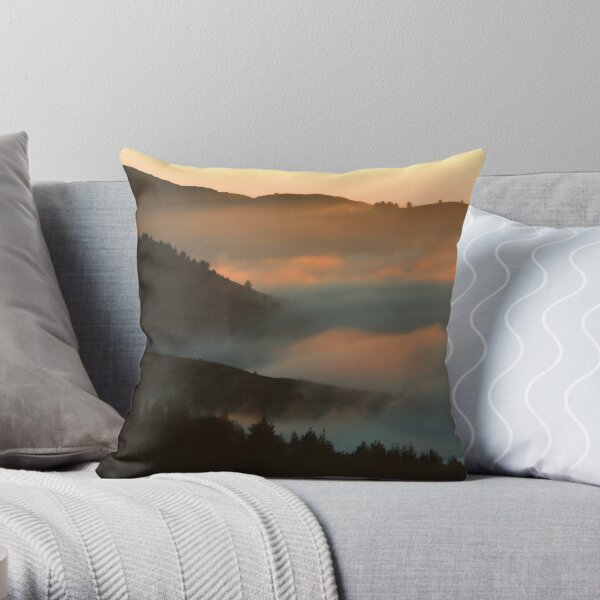 When The Fog Rolls In Throw Pillow
