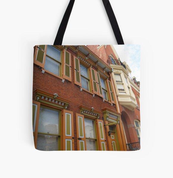 Homes on Prince Street, Lancaster, PA All Over Print Tote Bag