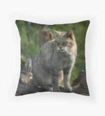 Scottish Wildcat (Endangered Specie 400 left) Throw Pillow