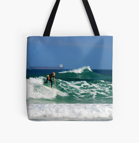 Surf, Waves and Coal Ships - Redhead Beach NSW All Over Print Tote Bag