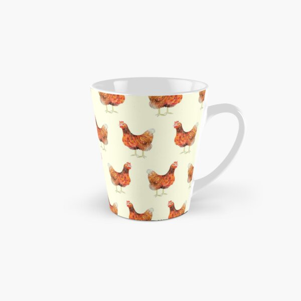 Chickens - hand drawn with coloured pencils Tall Mug