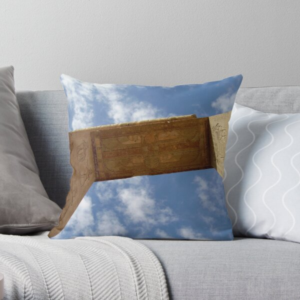 Dendera Temple Archway Throw Pillow