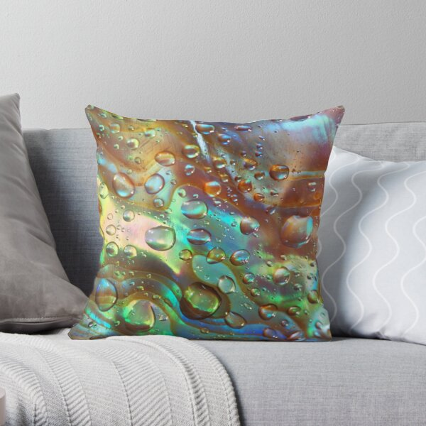 Abalone Blues Throw Pillow