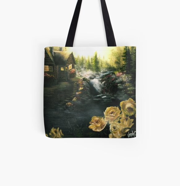 Alaskan Summer Day All Over Print Tote Bag