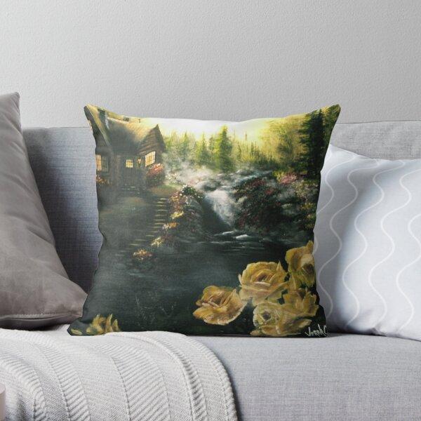 Alaskan Summer Day Throw Pillow