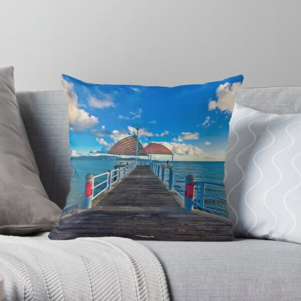 The Strand Jetty Townsville.  Throw Pillow