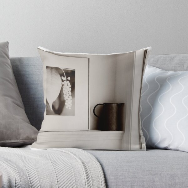 Her Objects Throw Pillow