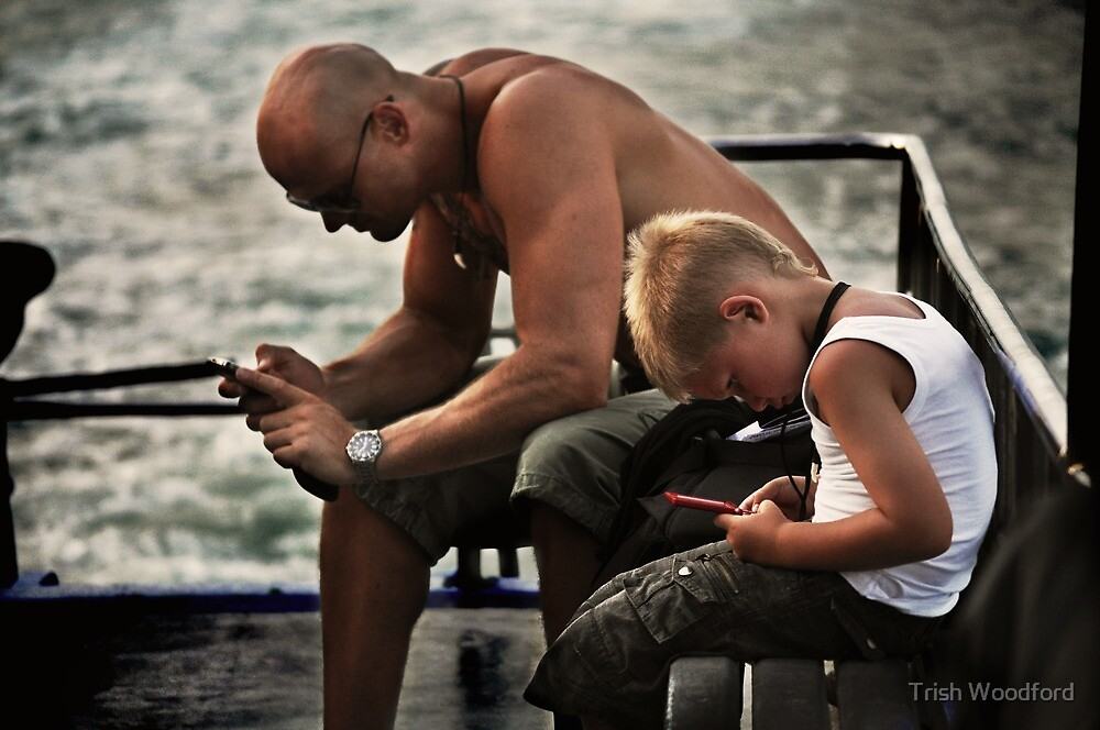 Like Father.....  (The Ferry - Candid #1) by Trish Woodford