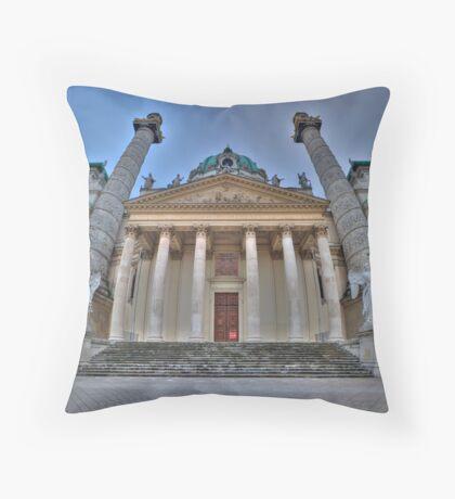 Karlskirche - Guardian Angels Throw Pillow