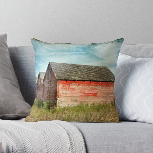 Red Barns Series 1 Throw Pillow
