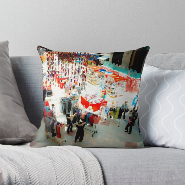 Xmas Shopping Throw Pillow