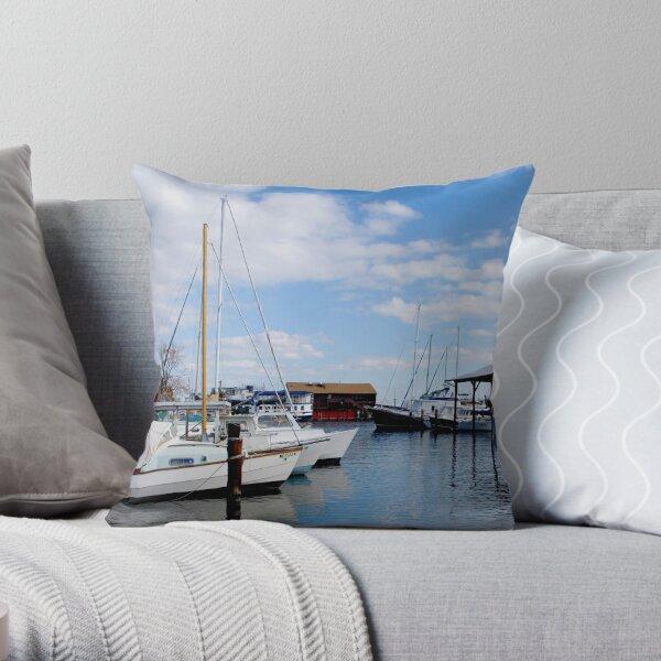 St. Michaels Harbor Throw Pillow