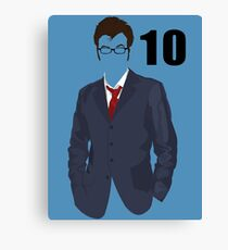 The 10th Doctor Canvas Print