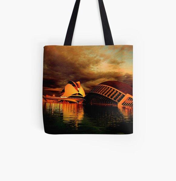 Reina Sofia Arts Palace & Hemesferic Museum 0172 All Over Print Tote Bag