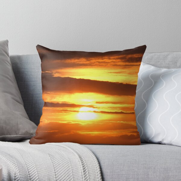 Hey babe the sky's on fire.... Throw Pillow