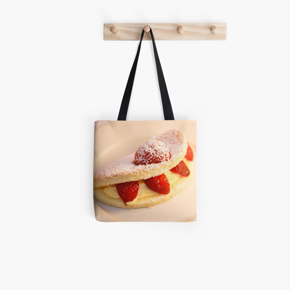 Strawberry sponge cake Tote Bag